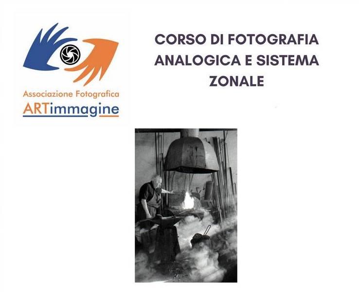 ritaglio corso di fotografia analogica e sistema zonale